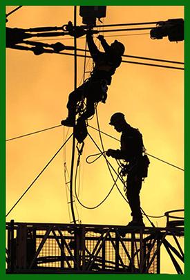 Electricians Repairing Outdoor Wiring