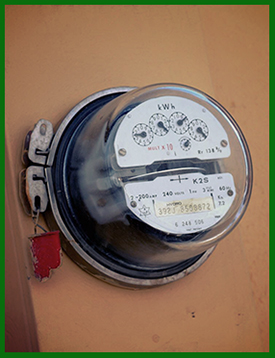 Power Company Electric Meter